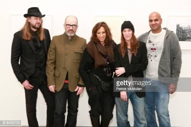 Steven Sebring Michael Stipe Donna Karan Patti Smith and Pankaj Shah attend Reception For PATTI SMITH And STEVEN SEBRING TONIC Board of Creators at...