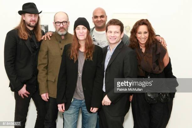 Steven Sebring Michael Stipe Patti Smith Pankaj Shah Robert Miller and Donna Karan attend Reception For PATTI SMITH And STEVEN SEBRING TONIC Board of...