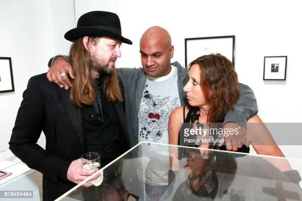 Steven Sebring Pankaj Shah and Donna Karan attend Reception For PATTI SMITH And STEVEN SEBRING TONIC Board of Creators at Robert Miller Gallery on...
