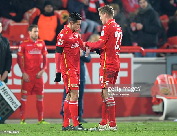 Steven Skrzybski and Felix Kroos of 1 FC Union Berlin during the game between dem 1 FC Union Berlin and Eintracht Braunschweig on december 5 2016 in...
