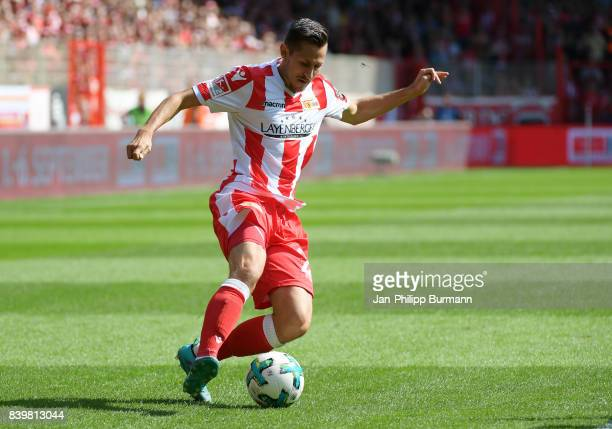 Steven Skrzybski of 1 FC Union Berlin during the game between Germany and Frankreich on august 27 2017 in Berlin Germany
