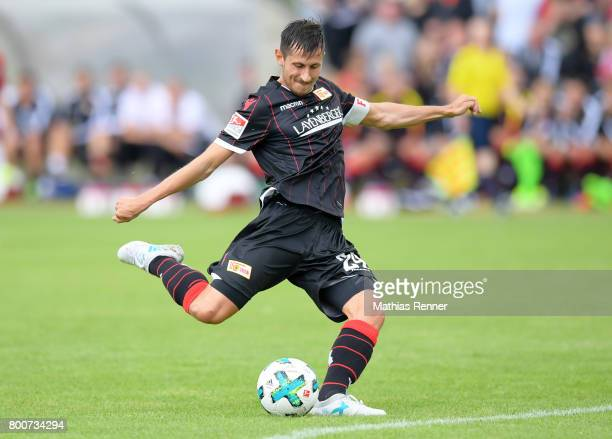 Steven Skrzybski of 1 FC Union Berlin during the game between Friedrichshagener SV and 1 FC Union Berlin on june 25 2017 in Berlin Germany