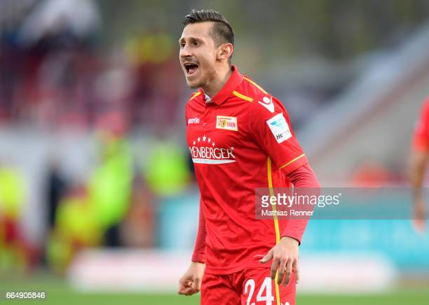 Steven Skrzybski of 1 FC Union Berlin during the game between Union Berlin and Erzgebirge Aue on april 5 2017 in Berlin Germany