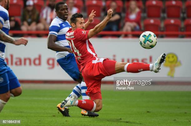 Steven Skrzybski of 1 FC Union Berlin during the game between Union Berlin and the Queens Park Rangers on july 24 2017 in Berlin Germany