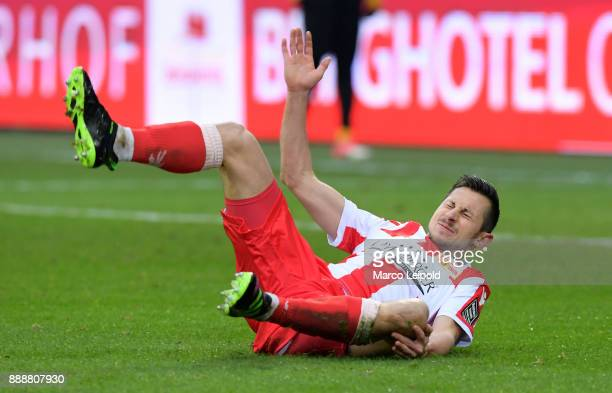 Steven Skrzybski of 1 FC Union Berlin during the Second Bundesliga match between Union Berlin and Dynamo Dresden at Stadion An der Alten Forsterei on...