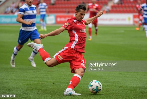 Steven Skrzybski of 1FC Union Berlin during the game between Union Berlin and the Queens Park Rangers on july 24 2017 in Berlin Germany