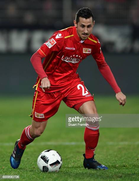 Steven Skrzybski of Berlin in action during the Second Bundesliga match between 1 FC Union Berlin and 1 FC Nuernberg at Stadion An der Alten...