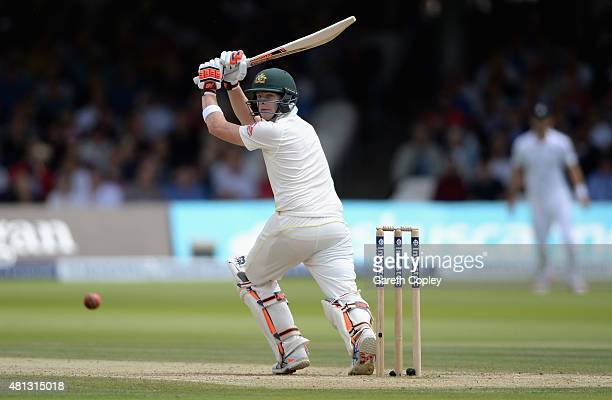 Steven Smith of Australia bats during day four of the 2nd Investec Ashes Test match between England and Australia at Lord's Cricket Ground on July 19...