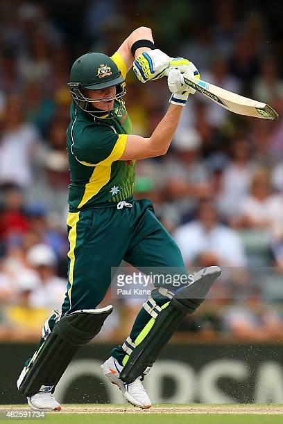 Steven Smith of Australia during the final match of the Carlton Mid One Day International series between Australia and England at the WACA on...