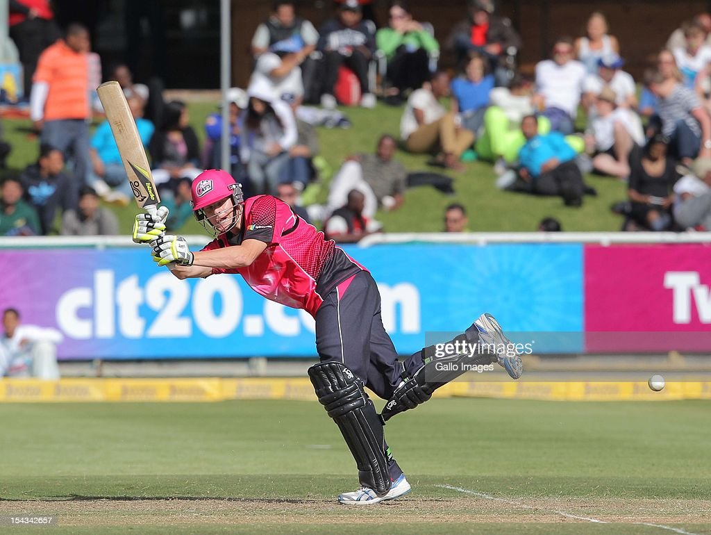 Steven Smith of the Sydney Sixers during the Karbonn Smart CLT20 match between bizbub Highveld Lions (South Africa) and Sydney Sixers (Australia) at Sahara Park Newlands on October 18, 2012 in Cape Town, South Africa.