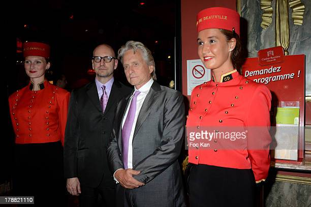Steven Soderbergh and Michael Douglas attend the 39th Deauville American Film Festival Opening Party at the Casino Lucien Barriere on August 30 2013...