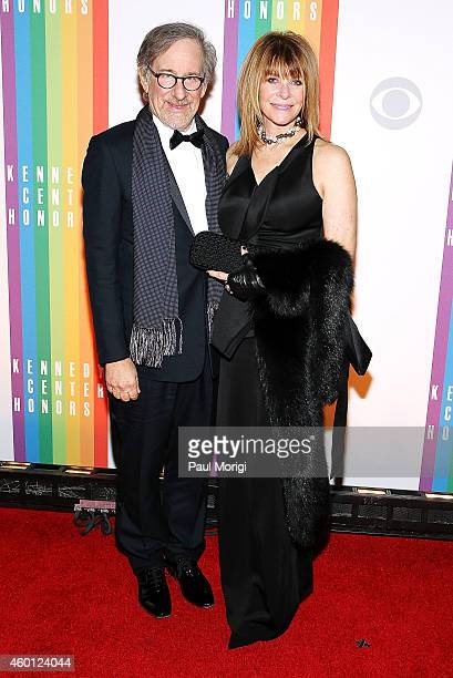 Steven Speilberg and Kate Capshaw arrive at the 37th Annual Kennedy Center Honors at the John F Kennedy Center for the Performing Arts on December 7...