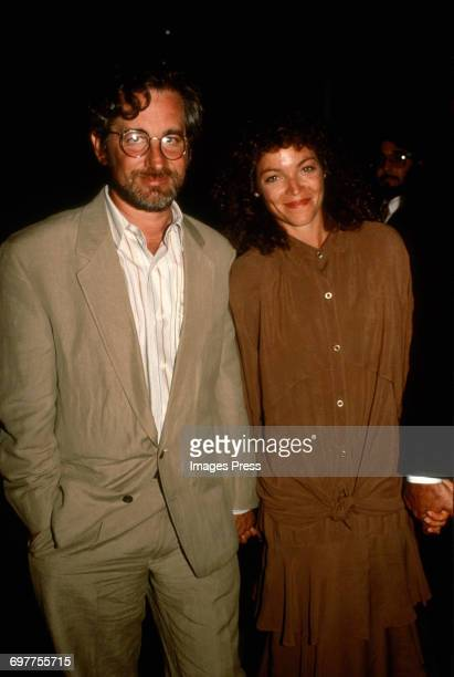 Steven Spielberg and Amy Irving circa 1988 in New York City