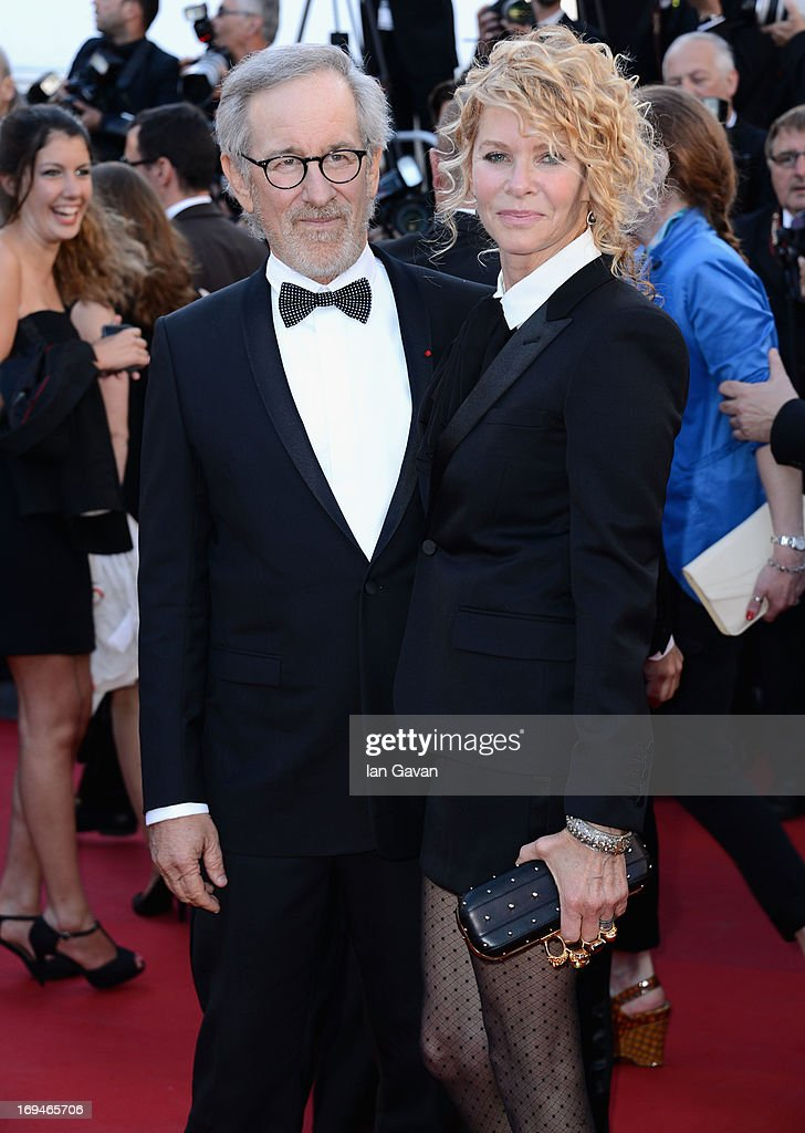 <a gi-track='captionPersonalityLinkClicked' href=/galleries/search?phrase=Steven+Spielberg&family=editorial&specificpeople=202022 ng-click='$event.stopPropagation()'>Steven Spielberg</a> and <a gi-track='captionPersonalityLinkClicked' href=/galleries/search?phrase=Kate+Capshaw&family=editorial&specificpeople=204585 ng-click='$event.stopPropagation()'>Kate Capshaw</a> arrive at 'Venus In Fur' Premiere during the 66th Annual Cannes Film Festival at Grand Theatre Lumiere on May 25, 2013 in Cannes, France.