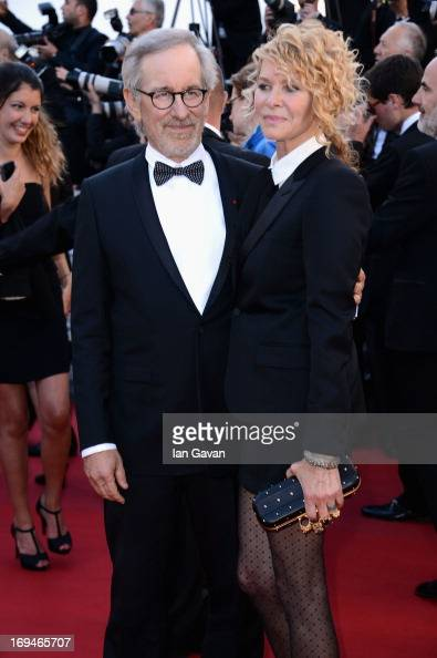 Steven Spielberg and Kate Capshaw arrive at 'Venus In Fur' Premiere during the 66th Annual Cannes Film Festival at Grand Theatre Lumiere on May 25...