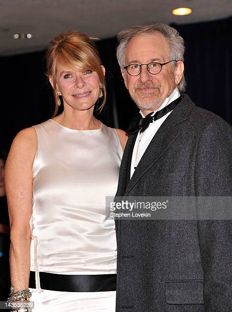 Steven Spielberg and Kate Capshaw attend the 98th Annual White House Correspondents' Association Dinner at the Washington Hilton on April 28 2012 in...