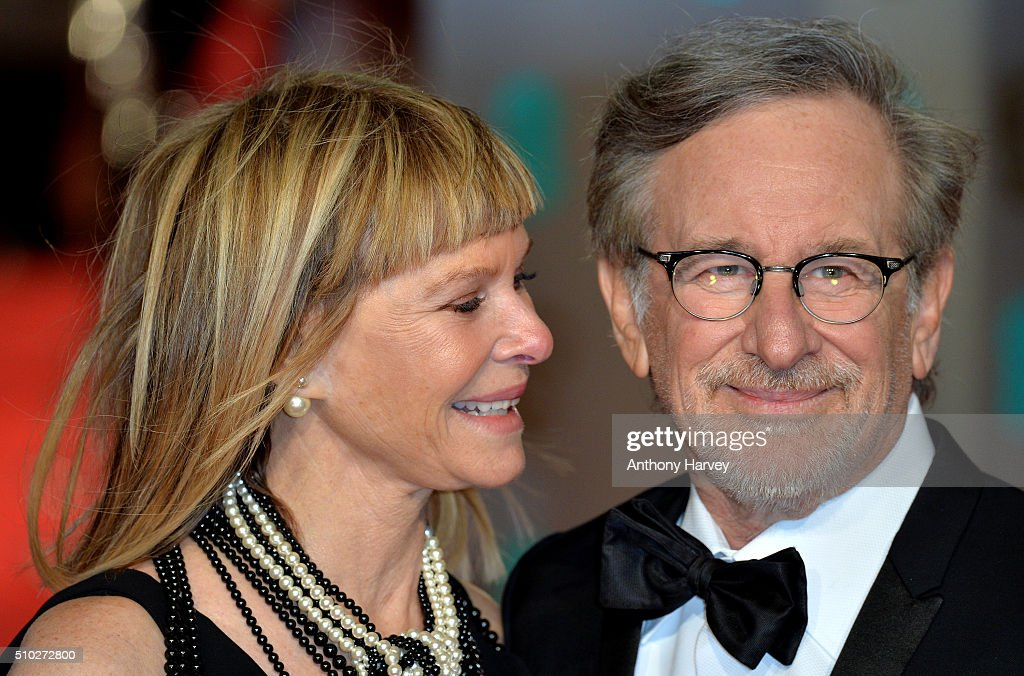 Steven Spielberg and Kate Capshaw attend the EE British Academy Film Awards at The Royal Opera House on February 14, 2016 in London, England.
