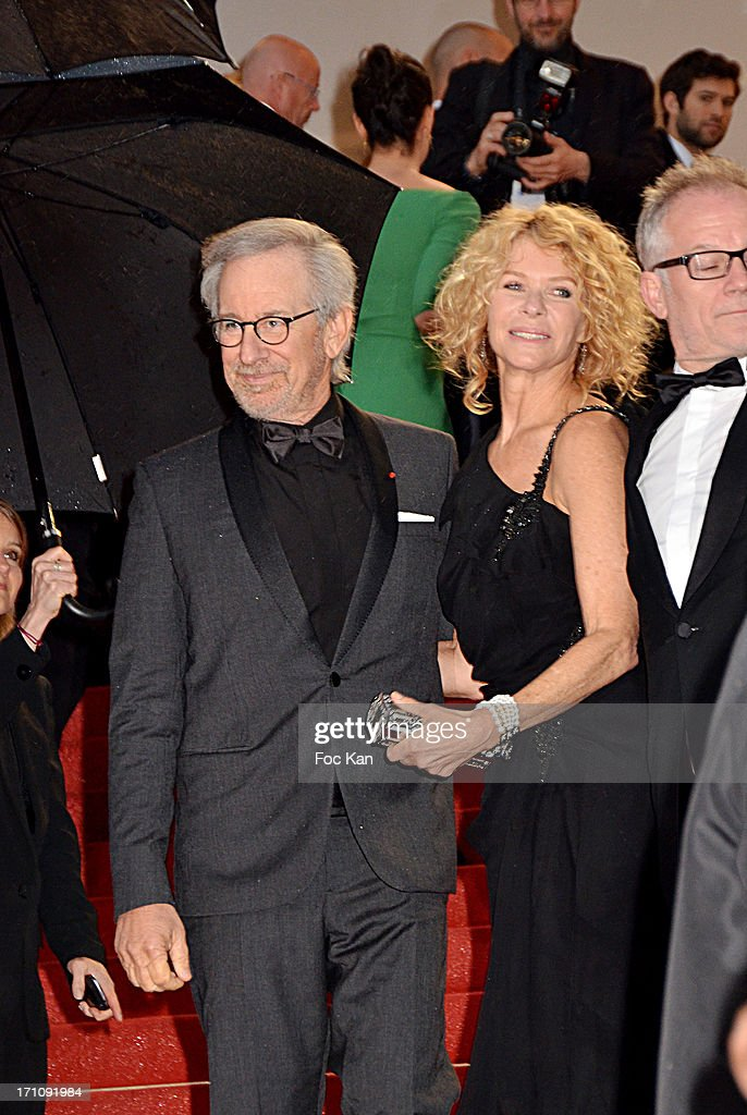 Steven Spielberg and Kate Capshaw attend the Premiere of 'Jimmy P. (Psychotherapy Of A Plains Indian)' at Palais des Festivals during The 66th Annual Cannes Film Festival on May 18, 2013 in Cannes, France.