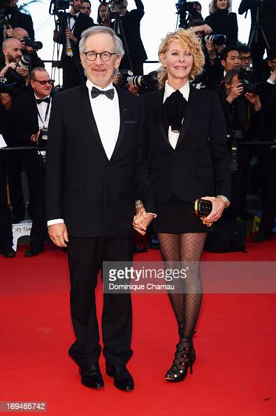 Steven Spielberg and Kate Capshaw attend the Premiere of 'La Venus A La Fourrure' during the 66th Annual Cannes Film Festival at the Palais des...