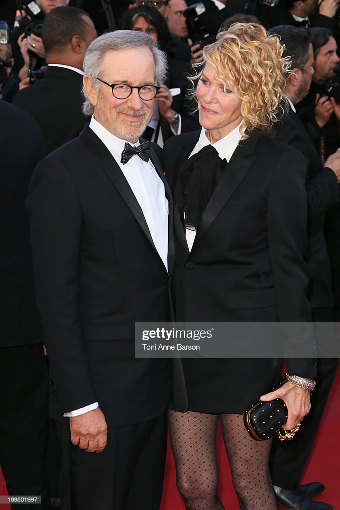 Steven Spielberg and Kate Capshaw attend the Premiere of 'La Venus A La Fourrure' at The 66th Annual Cannes Film Festival on May 25, 2013 in Cannes, France.