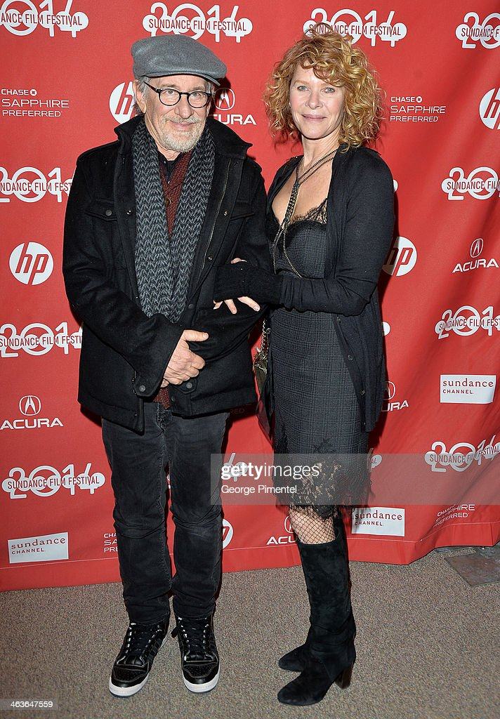 <a gi-track='captionPersonalityLinkClicked' href=/galleries/search?phrase=Steven+Spielberg&family=editorial&specificpeople=202022 ng-click='$event.stopPropagation()'>Steven Spielberg</a> and <a gi-track='captionPersonalityLinkClicked' href=/galleries/search?phrase=Kate+Capshaw&family=editorial&specificpeople=204585 ng-click='$event.stopPropagation()'>Kate Capshaw</a> attend the 'Young Ones' Premiere at Eccles Center Theatre on January 18, 2014 in Park City, Utah.
