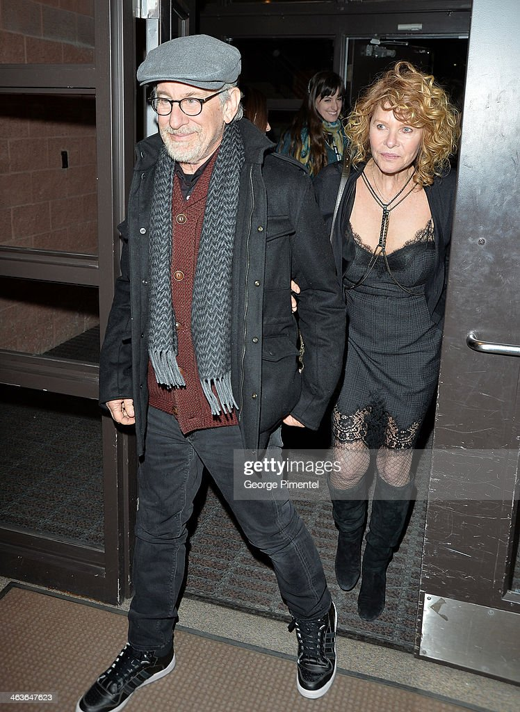 Steven Spielberg and Kate Capshaw attend the 'Young Ones' Premiere at Eccles Center Theatre on January 18, 2014 in Park City, Utah.
