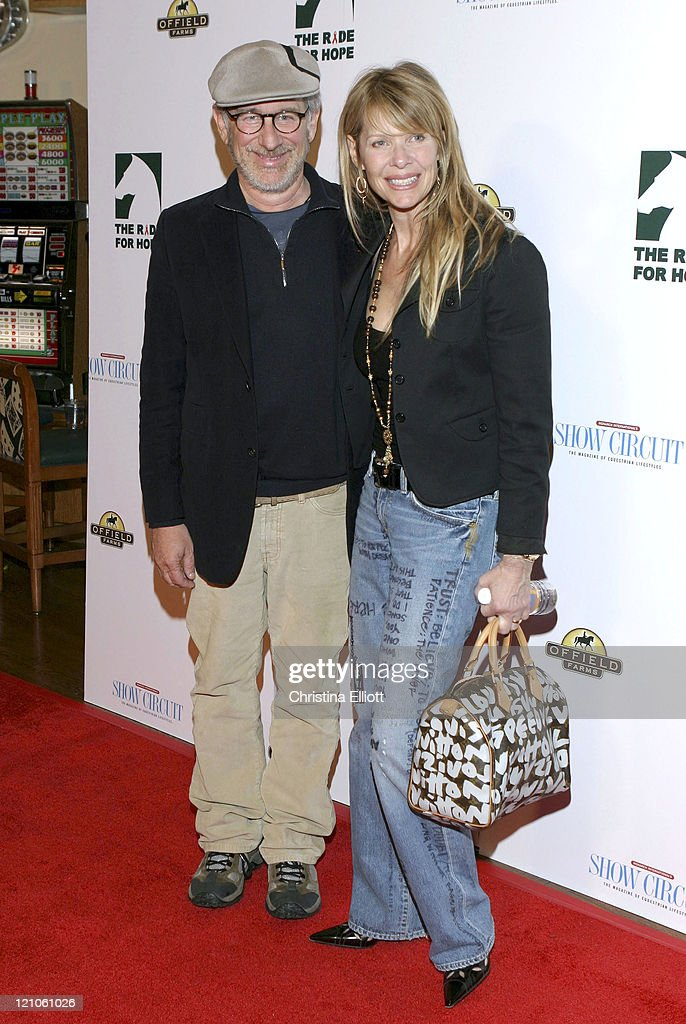 Steven Spielberg and Kate Capshaw during The Equestrian AIDS Foundation's 2nd Las Vegas Benefit at Hard Rock Hotel and Casino in Las Vegas Nevada...