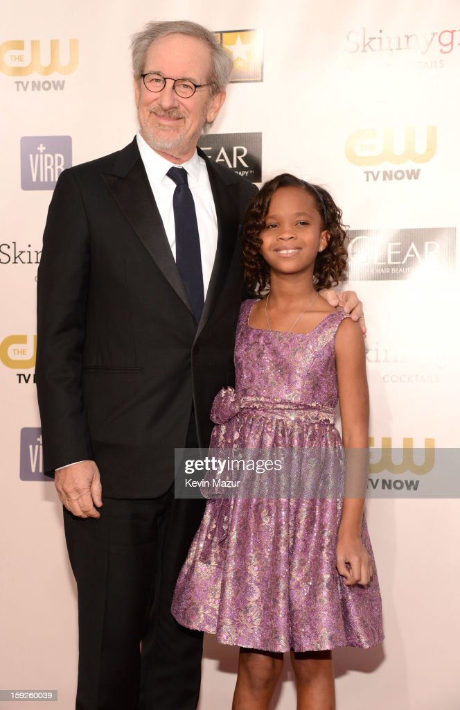 <a gi-track='captionPersonalityLinkClicked' href=/galleries/search?phrase=Steven+Spielberg&family=editorial&specificpeople=202022 ng-click='$event.stopPropagation()'>Steven Spielberg</a> and Quvenzhane Wallis attends the 18th Annual Critics' Choice Movie Awards at The Barker Hanger on January 10, 2013 in Santa Monica, California.