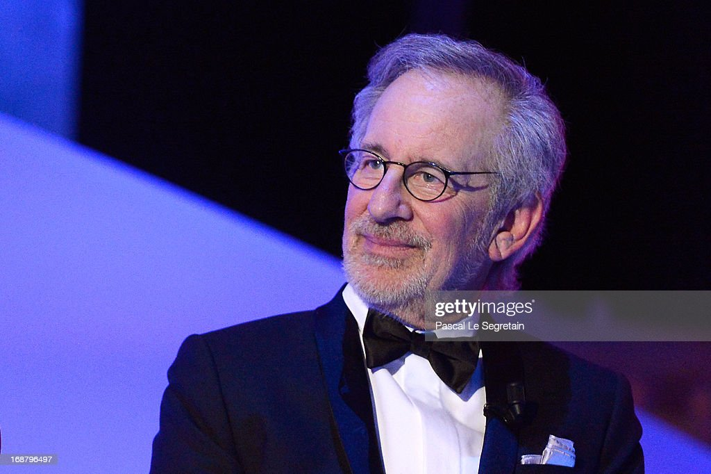 <a gi-track='captionPersonalityLinkClicked' href=/galleries/search?phrase=Steven+Spielberg&family=editorial&specificpeople=202022 ng-click='$event.stopPropagation()'>Steven Spielberg</a> appears on stage during the Opening Ceremony of the 66th Annual Cannes Film Festival at the Palais des Festivals on May 15, 2013 in Cannes, France.
