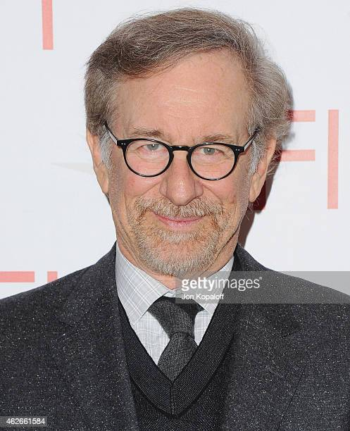 Steven Spielberg arrives at the 15th Annual AFI Awards at Four Seasons Hotel Los Angeles at Beverly Hills on January 9 2015 in Beverly Hills...