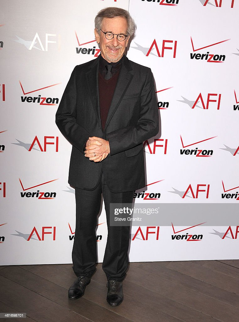 <a gi-track='captionPersonalityLinkClicked' href=/galleries/search?phrase=Steven+Spielberg&family=editorial&specificpeople=202022 ng-click='$event.stopPropagation()'>Steven Spielberg</a> arrives at the American Film Institute Awards Luncheon at Four Seasons Hotel Los Angeles at Beverly Hills on January 10, 2014 in Beverly Hills, California.