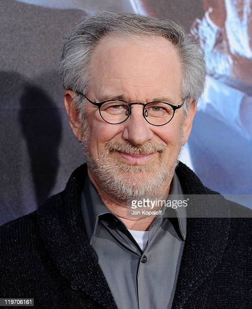 Steven Spielberg arrives at the World Premiere 'Cowboys Aliens' at San Diego Civic Theatre on July 23 2011 in San Diego California