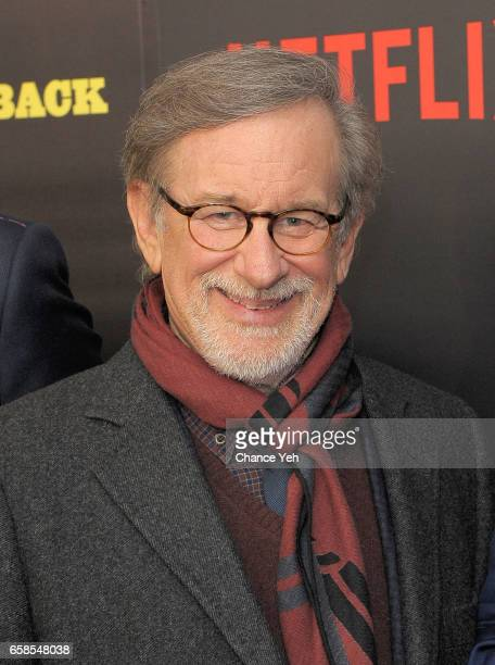 Steven Spielberg attends 'Five Came Back' world premiere at Alice Tully Hall at Lincoln Center on March 27 2017 in New York City