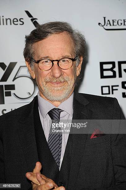 Steven Spielberg attends the 53rd New York Film Festival premiere of 'Bridge Of Spies' at Alice Tully Hall Lincoln Center on October 4 2015 in New...