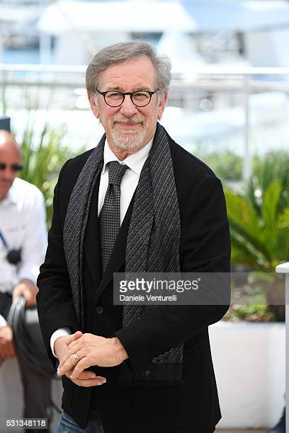 Steven Spielberg attends 'The BFG ' photocall during the 69th annual Cannes Film Festival at the Palais des Festivals on May 14 2016 in Cannes
