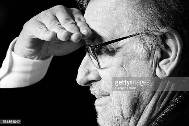 Steven Spielberg attends 'The BFG ' press conference during the 69th annual Cannes Film Festival at the Palais des Festivals on May 14 2016 in Cannes...