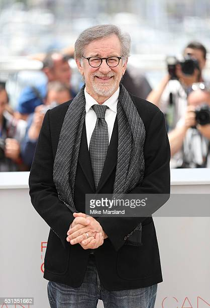 Steven Spielberg attends the 'The BFG ' photocall during the 69th Annual Cannes Film Festival on May 14 2016 in Cannes France
