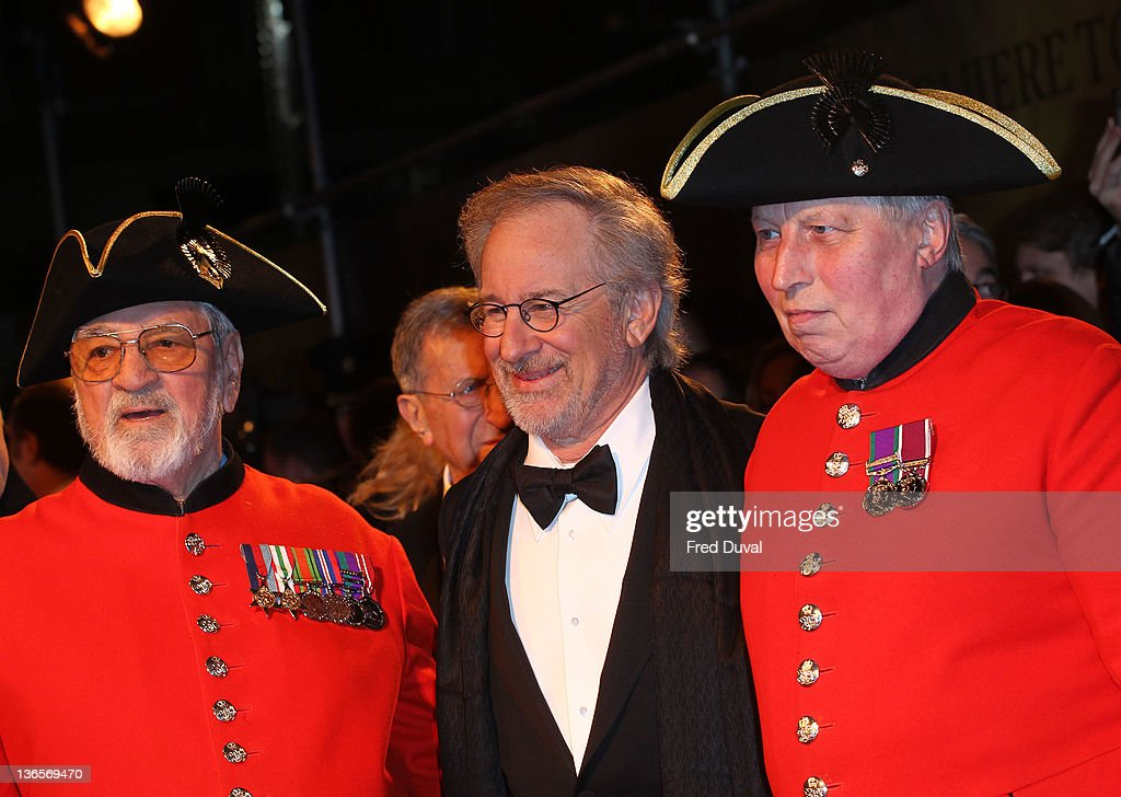Steven Spielberg attends the UK premiere of War Horse at Odeon Leicester Square on January 8, 2012 in London, England.