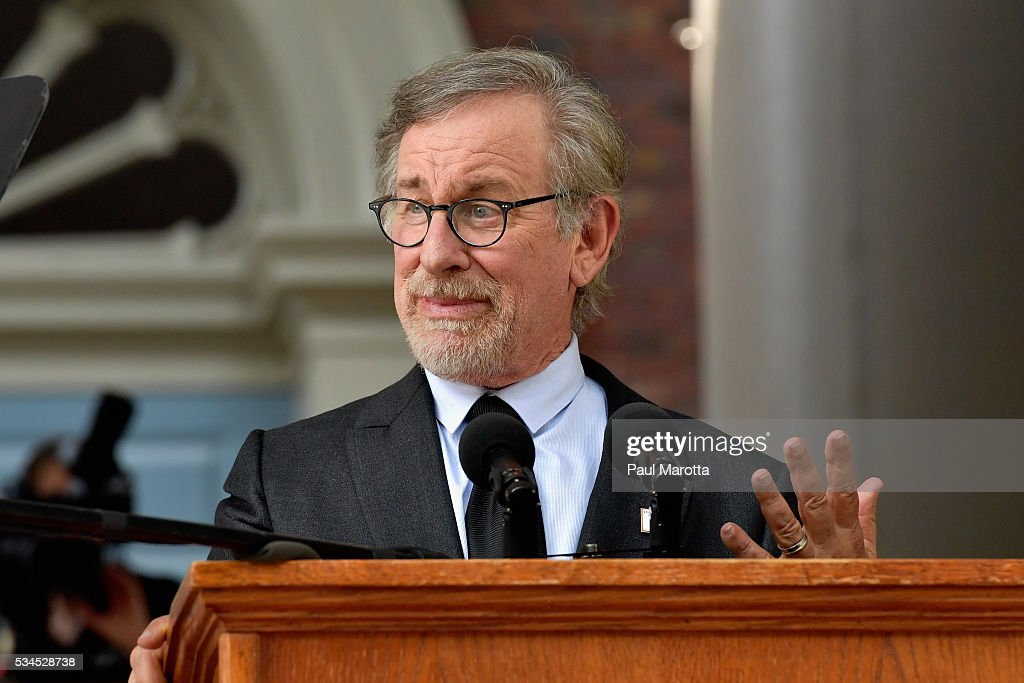 <a gi-track='captionPersonalityLinkClicked' href=/galleries/search?phrase=Steven+Spielberg&family=editorial&specificpeople=202022 ng-click='$event.stopPropagation()'>Steven Spielberg</a> delivers the Commencement Address at the Annual Meeting of the Harvard Alumni Association at the 365th Harvard University Commencement Afternoon Exercises on May 26, 2016 in Cambridge, Massachusetts.