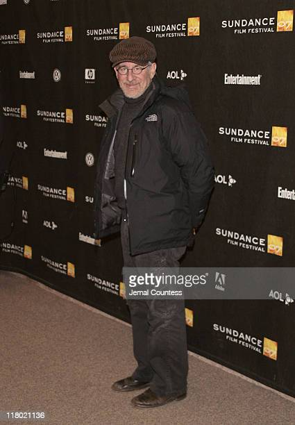 Steven Spielberg during 2007 Sundance Film Festival 'The Good Night' Premiere Red Carpet and Inside at Eccles Theater in Park City Utah United States