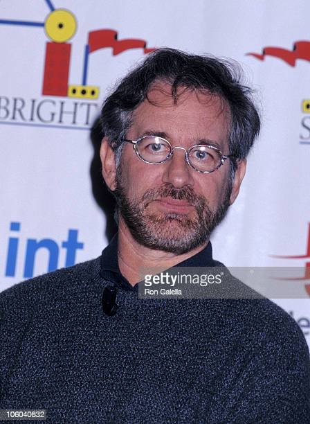 Steven Spielberg during 'Starbright World' Press Conference at Mount Sinai Medical Center in New York City New York United States