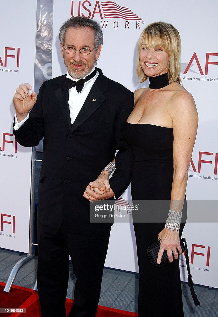 <a gi-track='captionPersonalityLinkClicked' href=/galleries/search?phrase=Steven+Spielberg&family=editorial&specificpeople=202022 ng-click='$event.stopPropagation()'>Steven Spielberg</a> & <a gi-track='captionPersonalityLinkClicked' href=/galleries/search?phrase=Kate+Capshaw&family=editorial&specificpeople=204585 ng-click='$event.stopPropagation()'>Kate Capshaw</a> during 30th AFI Life Achievement Award - A Tribute to Tom Hanks at Kodak Theatre in Hollywood, California, United States.