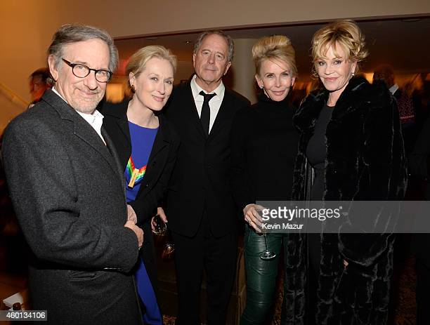 Steven Spielberg Meryl Streep Don Gummer Trudie Styler and Melanie Griffith attend the 37th Annual Kennedy Center Honors party at Mandarin Oriental...