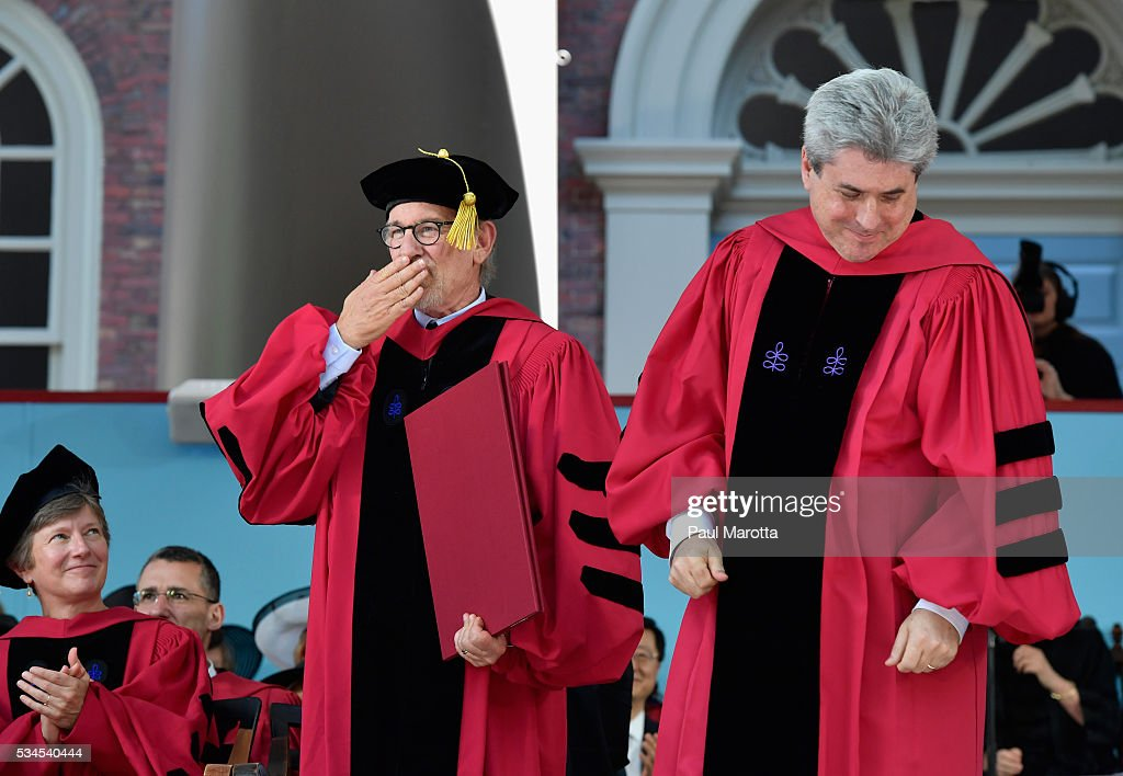 <a gi-track='captionPersonalityLinkClicked' href=/galleries/search?phrase=Steven+Spielberg&family=editorial&specificpeople=202022 ng-click='$event.stopPropagation()'>Steven Spielberg</a> receives an Honorary Doctor of Arts Degree from Harvard University at their 365th Commencement Exerices at Harvard University on May 26, 2016 in Cambridge, Massachusetts.