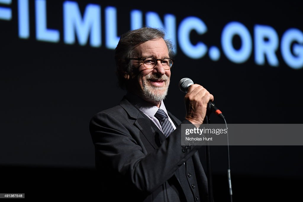 Steven Spielberg speaks at the cast introduction of 'Bridge Of Spies' during the 53rd New York Film Festival at Alice Tully Hall, Lincoln Center on October 4, 2015 in New York City.