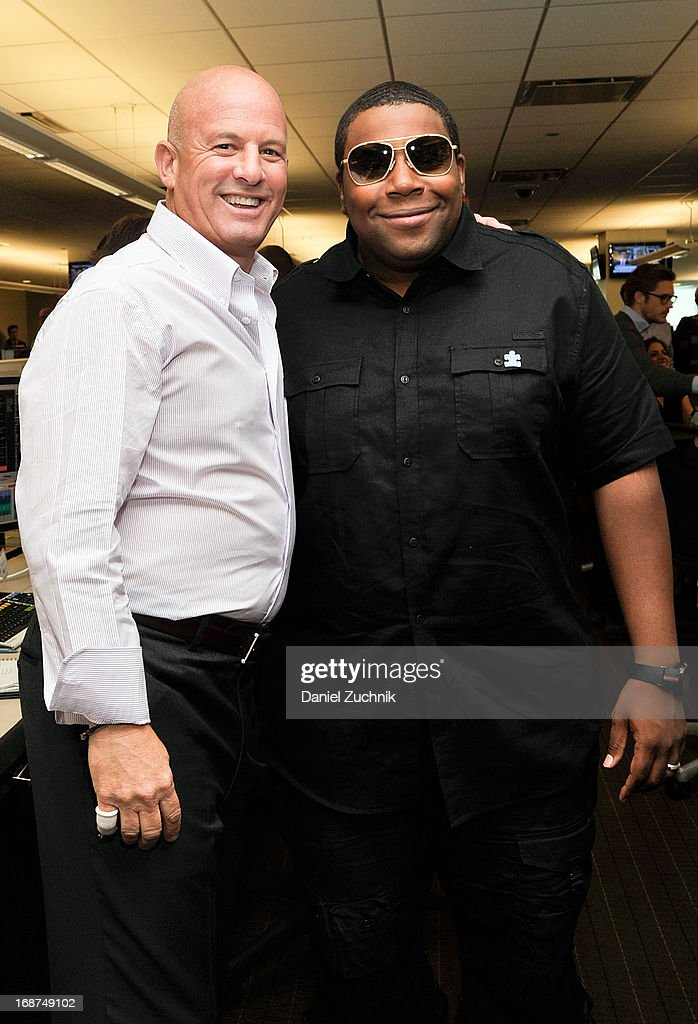 Steven Starker and <a gi-track='captionPersonalityLinkClicked' href=/galleries/search?phrase=Kenan+Thompson&family=editorial&specificpeople=215158 ng-click='$event.stopPropagation()'>Kenan Thompson</a> attend the 2013 Commissions For Charity Day at BTIG on May 14, 2013 in New York City.