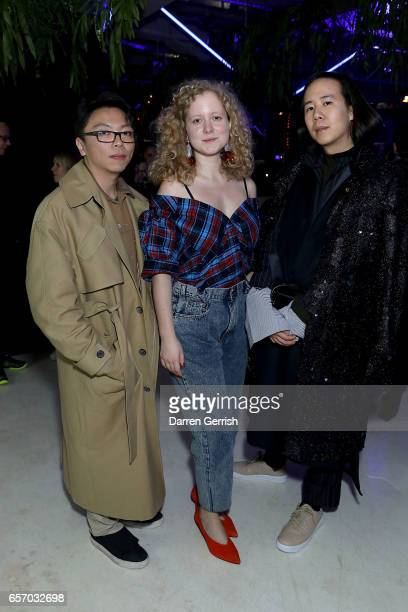 Steven Tai Anna October and William Fan attend the MercedesBenz #MBCOLLECTIVE Chapter 1 launch party with M I A and Tommy Genesis on March 23 2017 in...