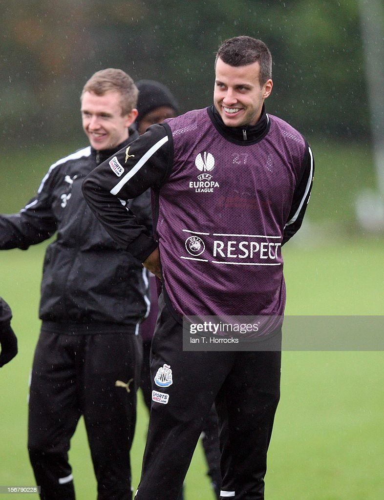 Steven Taylor during a Newcastle United training session at the Little Benton training ground on November 21, 2012, in Newcastle upon Tyne