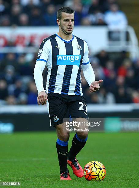 Steven Taylor of Newcastle United in action during the Barclays Premier League match between Newcastle United FC and West Bromwich Albion FC at St...