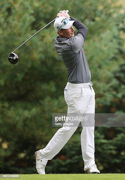Steven Tiley at Mount Wolseley Hotel Spa and Golf Resort on October 11 2015 in Carlow Ireland